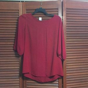 Red top size XL